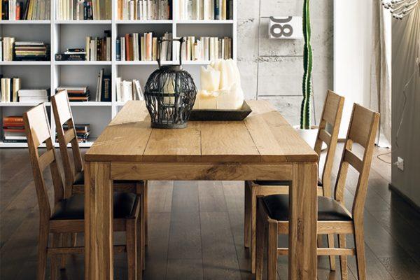 EC-TA8021 Tavolo / table: Nantes (L.1800 x P.900 x H.770) - EC-SE5301I Sedia / chair: Camilla (L.440 x P.490 x H.920)