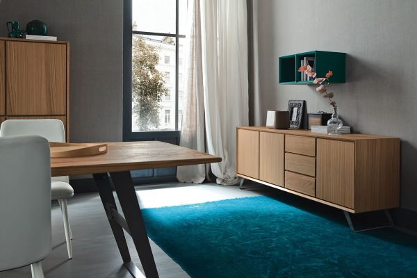 LB-ZG7123F Madia Nook 3 ante + 3 cassetti con steffe/Sideboard Nook 3 doors + 3 drawers (L.1975 x P.500 x H.745)