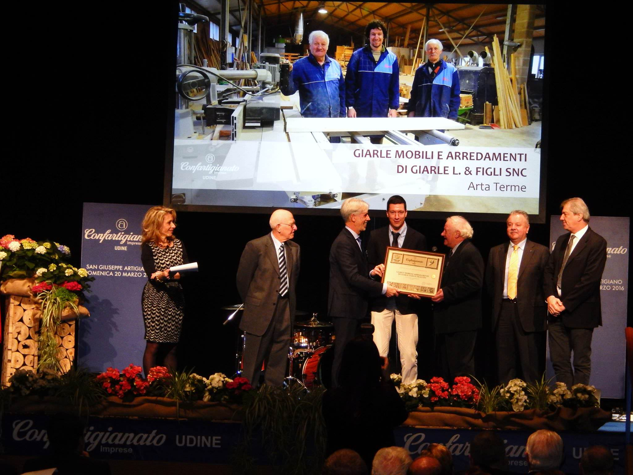 Premio san giuseppe artigiano mobili giarle produzione for Mobili outlet udine